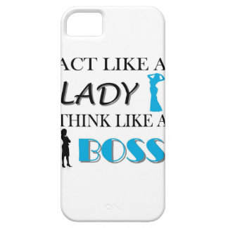 Act Like A Lady Thnk Like A BOSS iPhone SE/5/5s Case