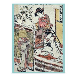 Act nine of the Chushingura by Katsukawa Shunsho Postcard
