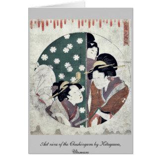 Act nine of the Chushingura by Kitagawa Utamaro Cards