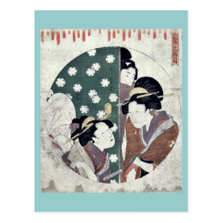 Act nine of the Chushingura by Kitagawa Utamaro Post Cards