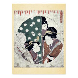 Act nine of the Chushingura by Kitagawa, Utamaro Post Card