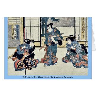 Act nine of the Chushingura by Utagawa Kuniyasu Cards