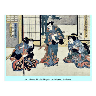 Act nine of the Chushingura by Utagawa Kuniyasu Post Card