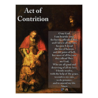 Act of Contrition Poster