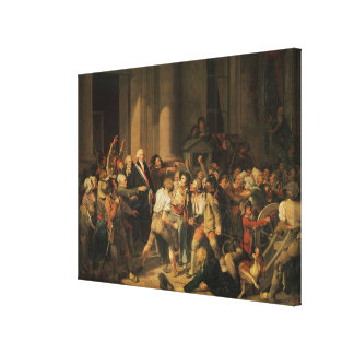 Act of Courage of Monsieur Defontenay Canvas Print
