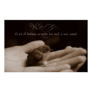 Act of Kindness Inspirational Poster Print