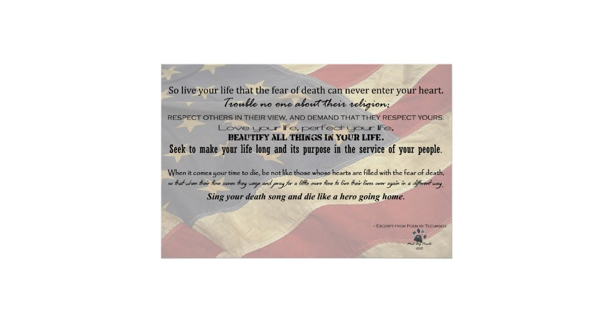 Tecumseh Poem Live Your Life 11839 Loadtve