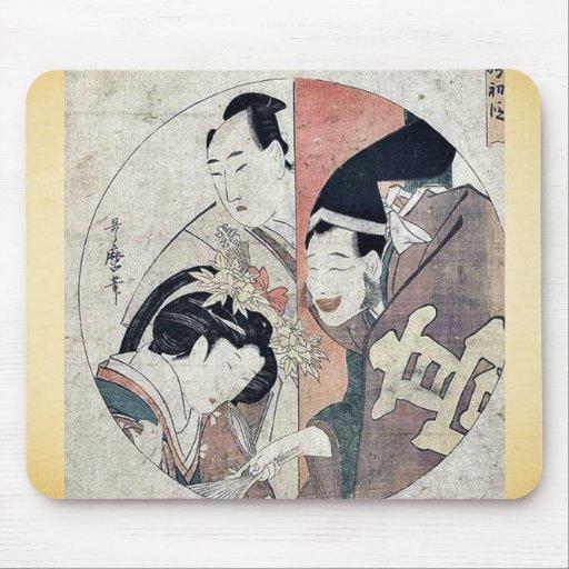 Act one of the Chushingura by Kitagawa, Utamaro Uk Mouse Pads