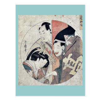 Act one of the Chushingura by Kitagawa Utamaro Uk Postcard