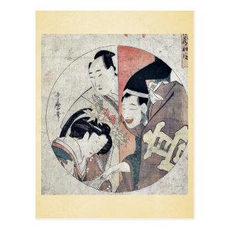 Act one of the Chushingura by Kitagawa, Utamaro Uk Post Cards