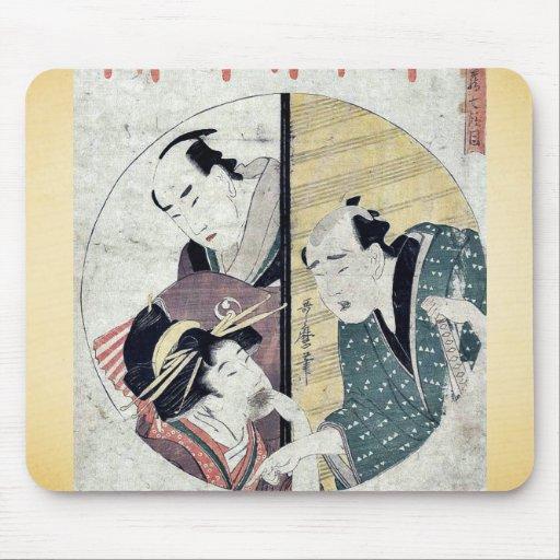 Act seven of the Chushingura by Kitagawa, Utamaro Mouse Pad