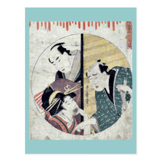 Act seven of the Chushingura by Kitagawa Utamaro Post Card