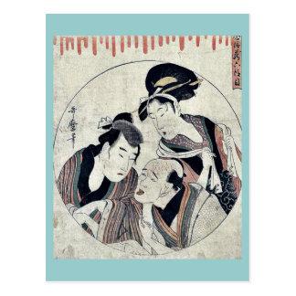 Act six of the Chushingura by Kitagawa Utamaro Postcards
