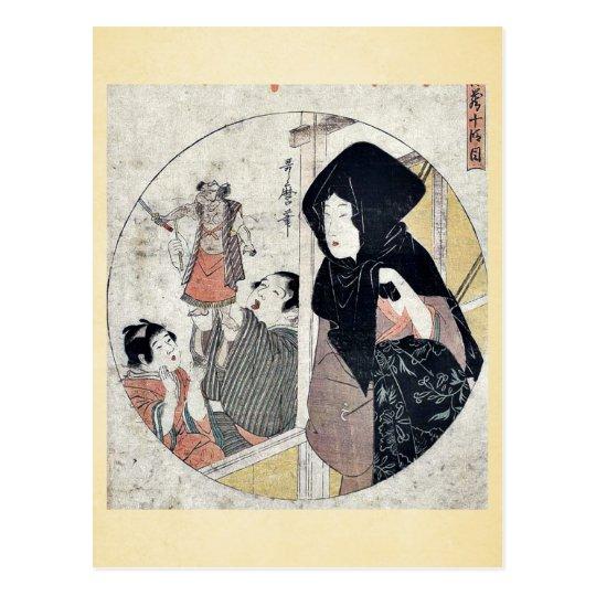 Act ten of the Chushingura by Kitagawa, Utamaro Uk Postcard