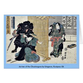 Act ten of the Chushingura by Utagawa Kuniyasu Uk Cards