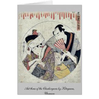 Act three of the Chushingura by Kitagawa Utamaro Cards