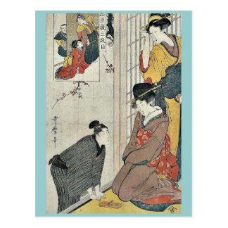 Act Two from the chushingura by Kitagawa Utamaro Postcard