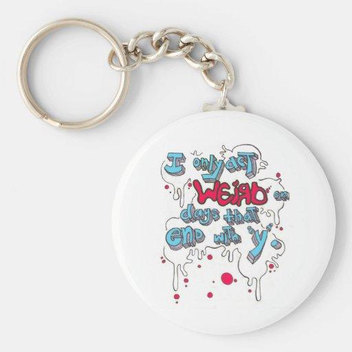 Act Weird Keychain
