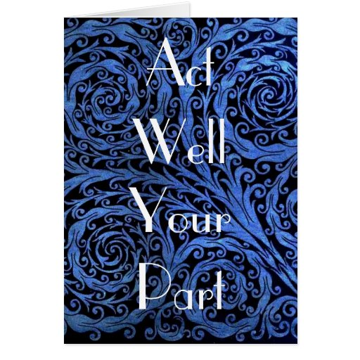 Act Well Your Part Card