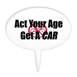 Act Your Age Get A Car Cake Pick