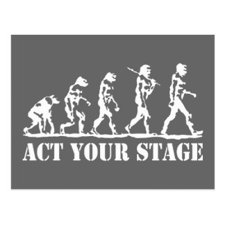 Act Your Stage Postcard
