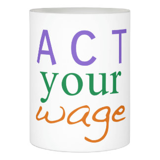 Act your Wage Dave Ramsey quote Flameless Candle