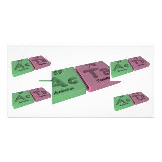 Acta as Ac Actinium and Ta Tantalum Picture Card
