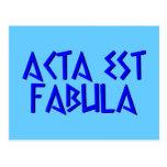 acta est fabula post cards