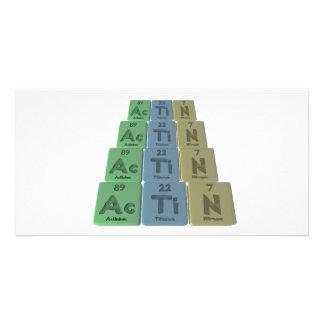 Actin-Ac-Ti-N-Actinium-Titanium-Nitrogen Photo Card