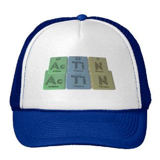 Actin-Ac-Ti-N-Actinium-Titanium-Nitrogen Trucker Hat