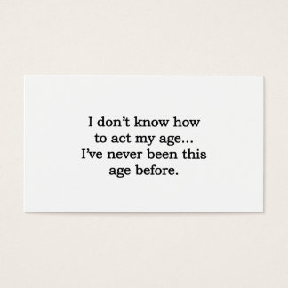 Acting My Age Business Card