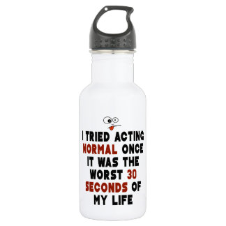 Acting Normal Water Bottle