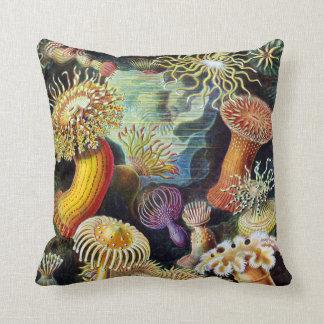 Actiniae by Ernst Haeckel Throw Pillow