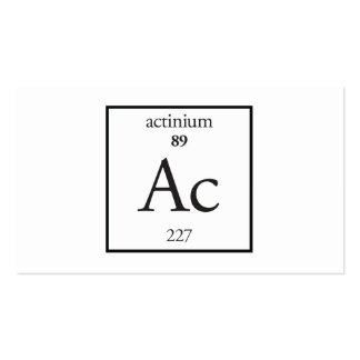 Actinium Business Card Templates