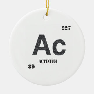 Actinium Ceramic Ornament