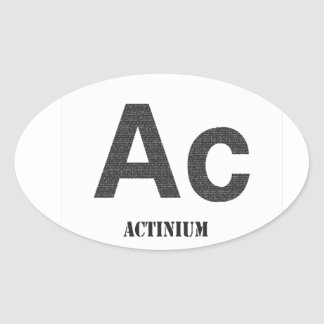 Actinium Oval Sticker