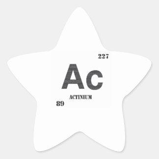 Actinium Star Sticker