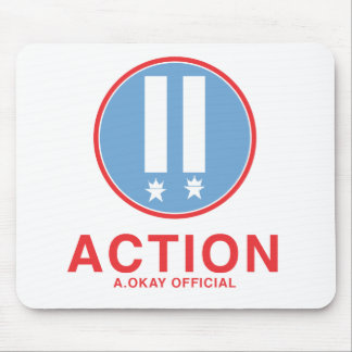 Action A.Okay Official Mouse Pad