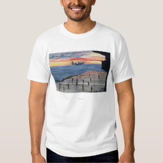 Action Aboard Aircraft Carrier - US Navy T-shirt
