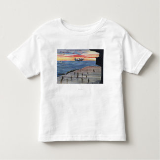 Action Aboard Aircraft Carrier - US Navy Toddler T-shirt