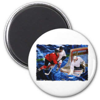 Action at the Hockey Net Magnet
