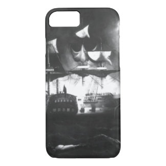 Action between the Bon Homme Richard_War Image iPhone 8/7 Case