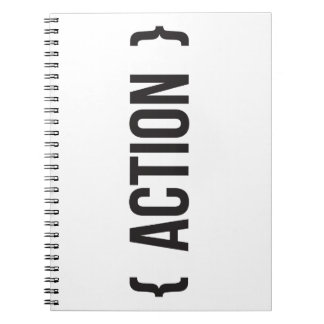 Action - Bracketed - Black and White Notebooks