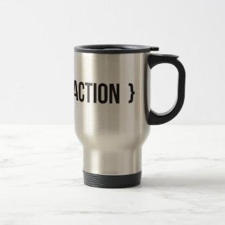 Action - Bracketed - Black and White Travel Mug