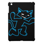Action Cats™- Black Cat™ (neon blue) iPad Mini Covers