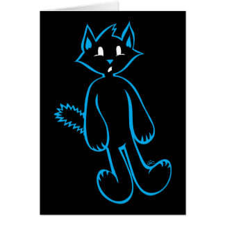 Action Cats™- Black Cat™-Scaredy Pose Card
