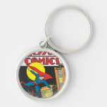 Action Comics #23 Silver-Colored Round Keychain