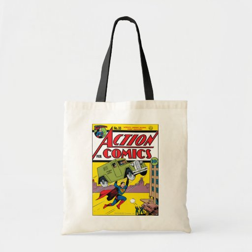 Action Comics #33 Tote Bags