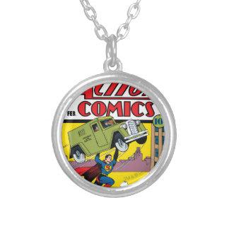 Action Comics #33 Round Pendant Necklace