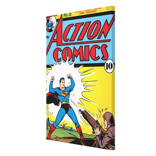 Action Comics #35 Canvas Print